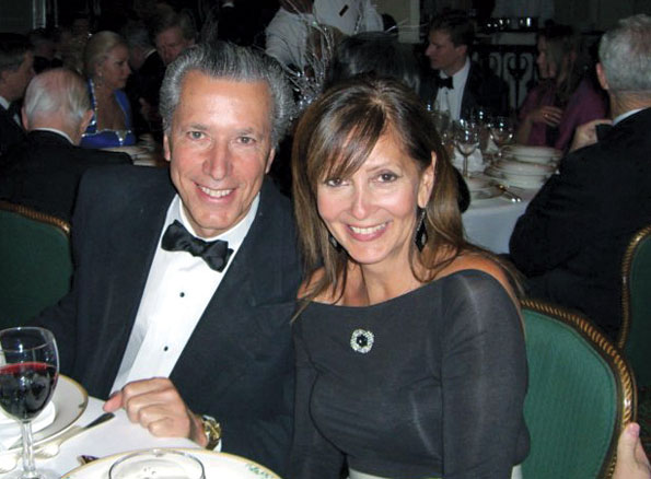 Guy D'Amecourt and wife Marion at the 2009 Russian Ball