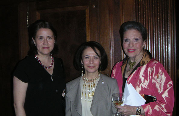 Cyd Everett and friends at the Turkish Embassay.