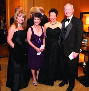 Annie Totah, Janet Sloan, Sheila Johnson, and Bob Sloan