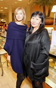Kasia Gasek with designer Tsyndyma