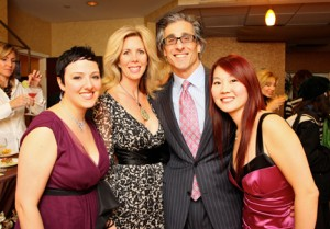 Pegg Hoffman, Michelle and Dr. Phil Schoenfeld, and Jenny Luu
