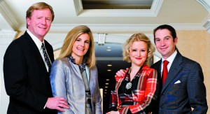 Angus and Sissy Yates and Dana and Timothy  Rooney joined our photo shoot at the newly renovated and redubbed Fairfax Embassy Row Hotel.