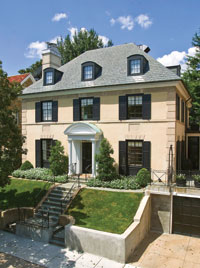 The four-level Georgian residence at 2435 Tracy Place NW in Kalorama recently sold to two local attorneys for $3,995,000. It boasts seven bedrooms and is listed in the L'Enfant Historic Register.