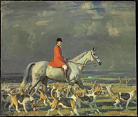Frederick Henry Prince, Master of Foxhounds of the Pau Hunt by Sir Alfred James Munnings (1878-1959). Oil on canvas. Christie's New York Sporting Art sale, Dec. 3. Estimate: $1,200,000-1,800,000.
