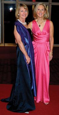 Ball chairwoman Cathy Jones and Diane Schaefer