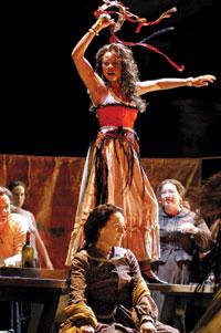 "Graves as Carmen in the ""Habanera"" scene."