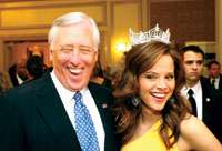 Rep. Steny Hoyer and Miss America Katie Stam