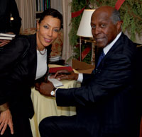 Amy Goldson and Vernon Jordan