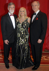 Tom Nelson with Trish and George Vradenburg