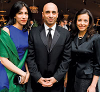 Huma Abedin, UAE Amb. Yousef Al-Otaiba, and Dina Powell