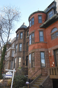 A three-bedroom duplex condominium within a Victorian townhouse at 2110 O Street NW in Dupont Circle recently sold for $895,000.