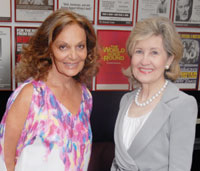 Diane von Furstenberg and Senator Kay Bailey Hutchinson. Photo by Kyle Samperton