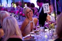 Paris Hilton at dinner with boyfriend Doug Reinhardt (Photo by Daniel Schwartz)