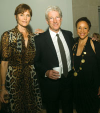 Carey Lowell, Richard Gere and Sheila Johnson