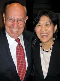 Tom Pickering with Singaporean Amb. Chan Heng-Chee. Photo by Gail Scott.
