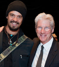 Richard Gere and musician Michael Franti. Photo by Amanda Lucidon/CARE.