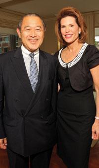 Ambassador of Japan Ichiro Fujisaki and Nancy Brinker
