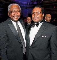 Rep. James Clyburn and Ralph Everett