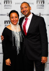 Sheila Johnson and Brandford Marsalis