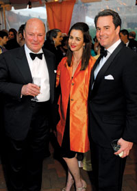 Frank Wisner with Gwen and Stuart Holliday