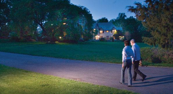 Ambassador and Mrs. Castellaneta enjoy a twilight stroll around the grounds of Villa Firenze6