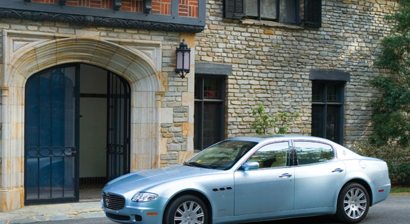 """The Ambassador's 2006 Masserati Quattroporte, a car the New York Times recently described as """"just this side of a racecar."""""""