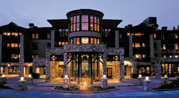 The exterior at The Residences at the Chateaux in Deer Valley, Utah.