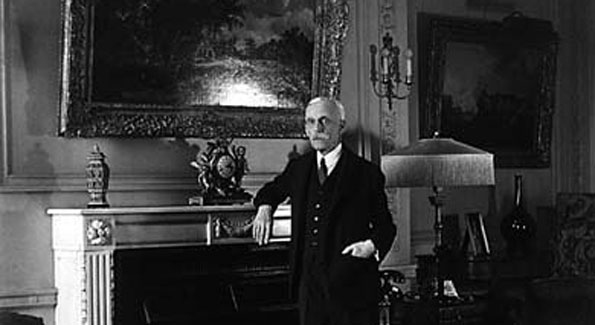Andrew W. Mellon in his sumptuous apartment in the McCormick Building.