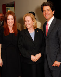 Julianne Moore with Kristen Gillibrand and Tim Shriver