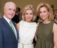 Hosts David and Katherine Bradley with Mary Haft
