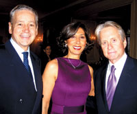 Italian Ambassador Giovanni Castelanetta, Lila Castelanetta, and actor Michael Douglas at Ploughshares' event. (Photo by Gail Scott)