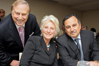 Mel Estrin, Rep. Jane Harman, and Egyptian Amb. Nabil Fahmy