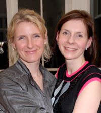 """Eat, Pray, Love"" author Elizabeth Gilbert with host Ludmila Cafrtiz"