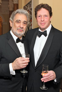 Plácido Domingo and British Amb. Sir Nigel Sheinwald