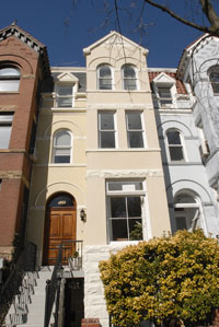 A townhouse at 2123 N Street NW, one of the few remaining structures designed by noted African American architect Calvin T. S. Bren, recently changed hands for $1,450,000.