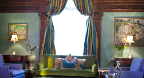 The centerpieces of the ottoman room are, fittingly enough, three ottomans.