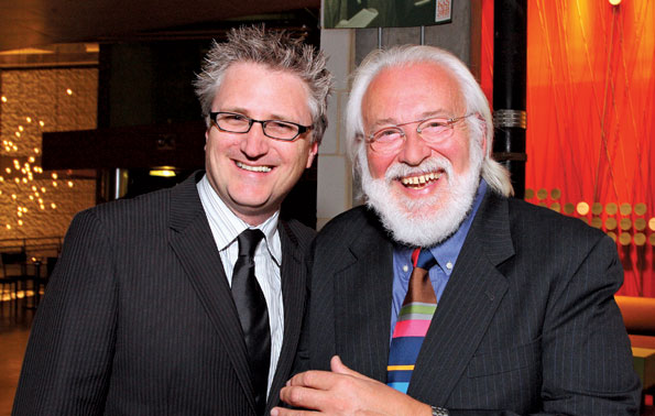 Artistic Director Eric Schaeffer and Frank Galati at the Signature Theatre's Kander & Ebb-themed gala (Photo by Tony Powell)