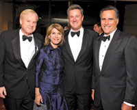 Chris and Kathleen Matthews, Joe Scarborough, and Mitt Romney