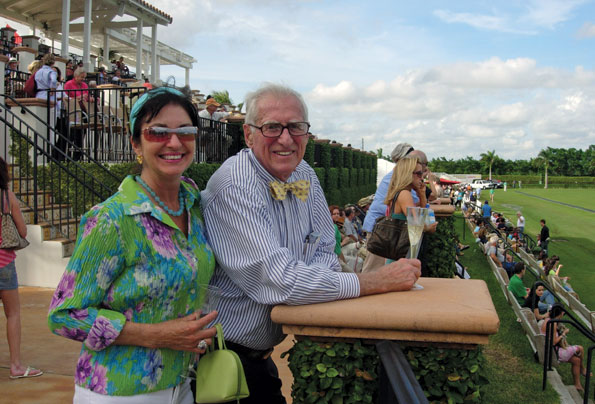 Susan Hensley and Bill Fannon at the International Polo Club in Palm Beach.