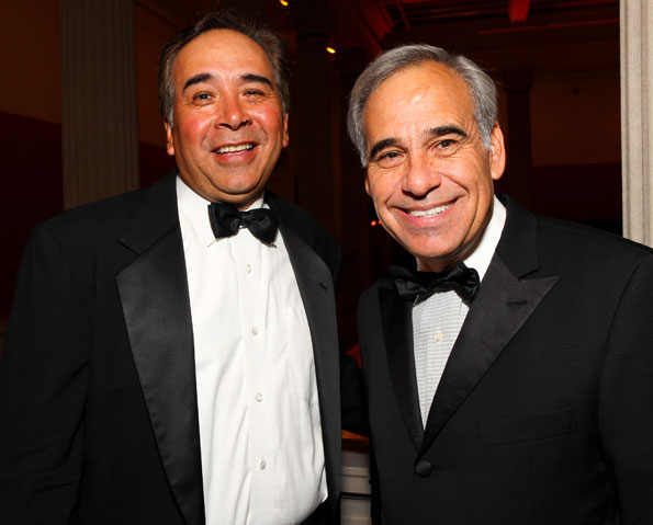 Victor Cabral and Texas Congressman Charles Gonzalez, Photo by Tony Powell