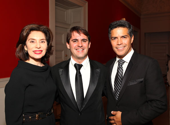 Merel Julia, Roberto Orci, Esai Morales, Photo by Tony Powell