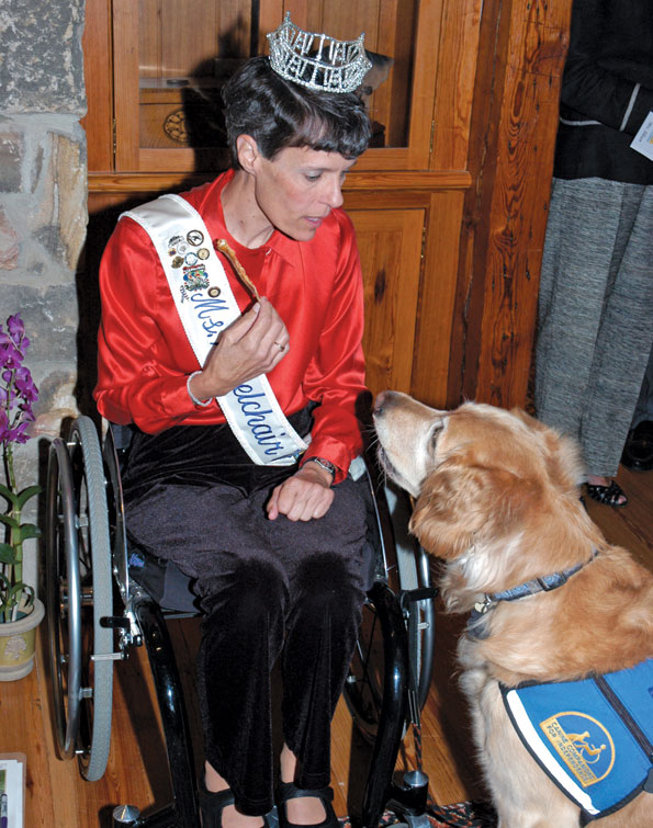 Miss Wheelchair of Virginia, Buddy Hayes, with pooch Ellie. Photo by Karen Buckley.