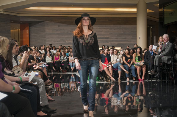 A model in Lucky Brand Jeans at All Access Fashion