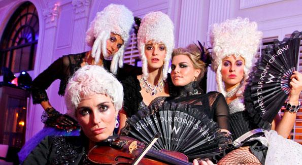 Operatic performers set a classical mood