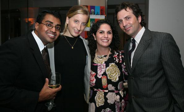 AbC's  Polson Kanneth, Katie Bosland, and Courtney Cohen with Washington Life Magazine Executive Editor Michael Clements