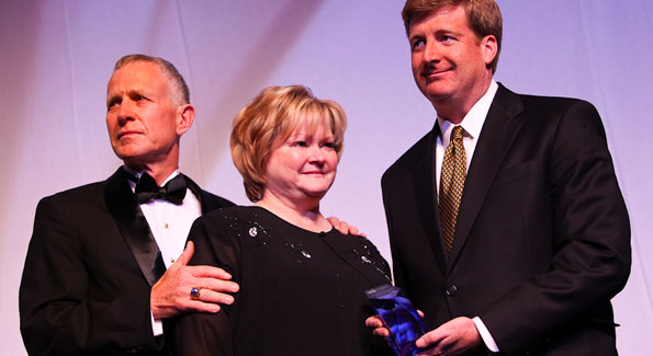 Dennis and Judy Shepard receive the 1st Edward M. Kennedy National Leadership Award from Rep. Patrick Kennedy