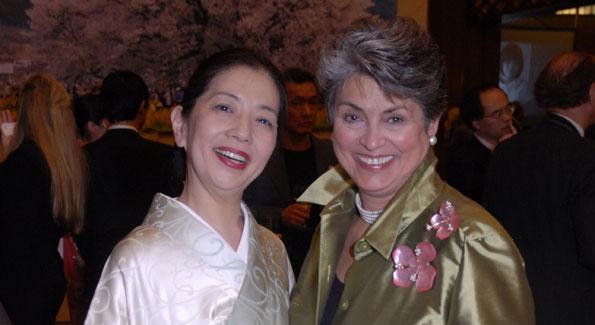 Gail Scott with  Ichiro Fujisaki