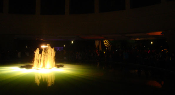 Courtyard fountain at Hirshhorn After Hours. Photograph by Alannah Wells