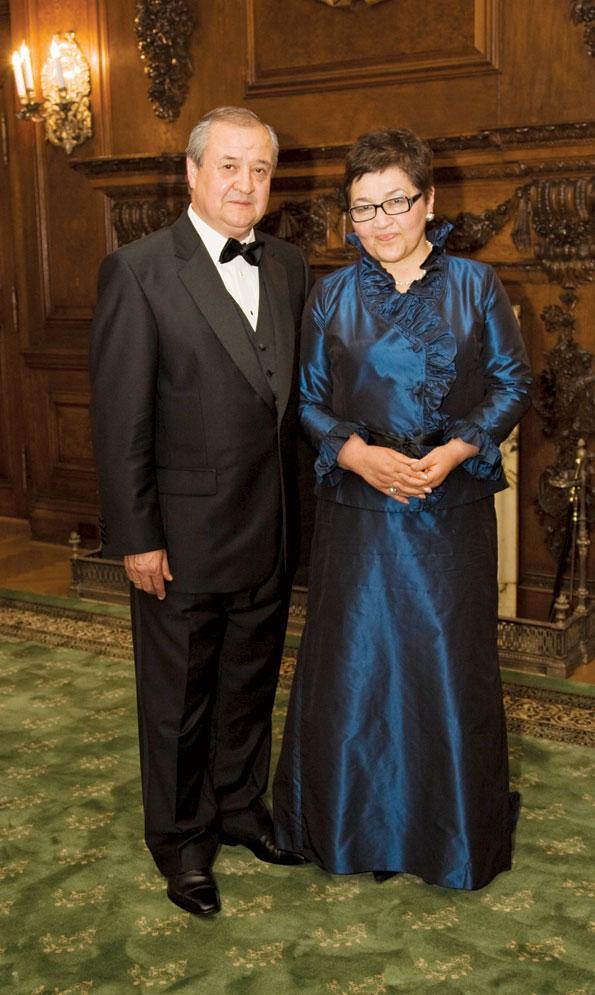 Uzbecki Ambassador Abdulaziz Kamilov and his wife, Gulnara Rashidova, entertain frequently on the premises.