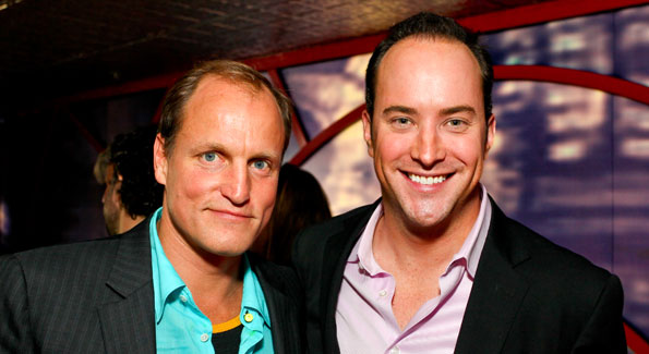 "Woody Harrelson and David Venn at the Impact Film Festival Post Party at Posh Restaurant and Supper Club for the screening of ""The Messanger"". Photo by Tony Powell"